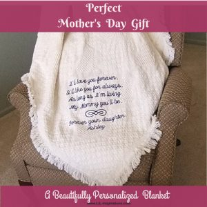 Perfect Mothers Day Gift - Personalized Blanket